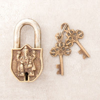 Antique Brass Ganesh Lock