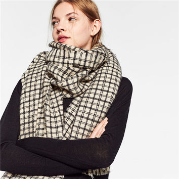 Winter Couple Plaid Scarf Lovely Wrap Shawl [9572845967]