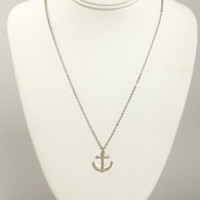 Rock the Boat Silver Anchor Necklace