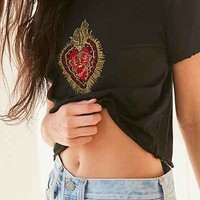 Future State Embroidered Heart Tee - Urban Outfitters