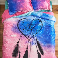 Full/Queen - Heart Dreamcatcher Comforter Set
