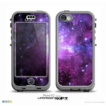 The Violet Glowing Nebula Skin for the iPhone 5c nüüd LifeProof Case