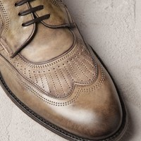 Micro-perforated calfskin naples derby Men - Shoes Men on Dolce&Gabbana Online Store United States - Dolce & Gabbana Group