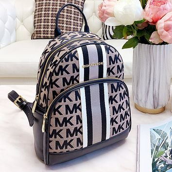 Michael Kors MK Trending Woman Leather Daypack Travel Bookbag Shoulder Bag Backpack School Bag