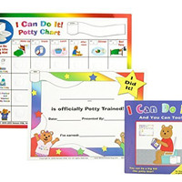 """Kenson Kids """"I Can Do It!"""" Potty Chart Updated Toilet Training System! Includes Colorful Magnetic Chart, 30 Positive-Reinforcement Stars, Potty Training Book, Achievement Certificate, and Training Tips for Parents"""