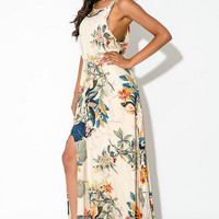 Strappy Floral Printed Maxi Dress 10923