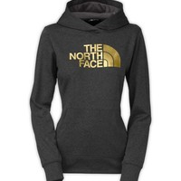 The North Face Fave Pullover Hoodie for Women in TNF Dark Grey and Gold Foil A6S1-GDE
