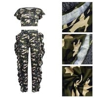 Army Camouflage Ruffled 2 piece tg