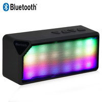 Multi-Color X3S Mini Wireless Bluetooth Speaker With LED Light Built-in Microphone Support USB/AUX/FM Radio/TF Card