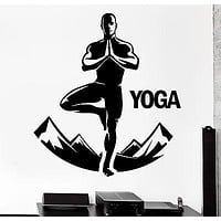 Wall Sticker Buddha Yoga Studio Mountains Meditation Vinyl Decal Unique Gift (z2896)