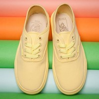 VANS Yellow classic low back casual shoes