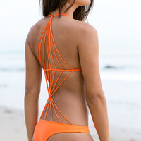 The Girl and The Water - Mikoh Swimwear - Seychelles One Piece / Sunrise - $202