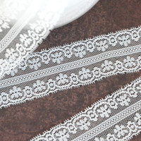 1 yard 1 1/2 Inch lace ribbon - lace ribbon - scrapbooking - embellishment - off white lace - weddings - crafts - sewing - card making.