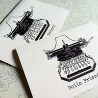 Hello Friend Note Cards Set of 8