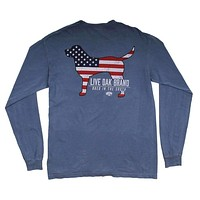 American Dog Long Sleeve Tee in Blue Jean by Live Oak