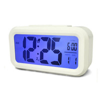 Digital LED Display Table Alarm Clock Thermometer LCD Backlight Time