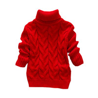 Baby Boys Girls Sweater Children Kids Unisex Winter Autumn Pullovers Knitting Turtleneck Warm Outerwear Sweaters