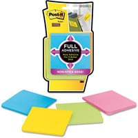 Walmart: Post-it Super Sticky Full Adhesive Notes Full Adhesive Notes, 3 x 3, Assorted Bright Colors, 4/Pack