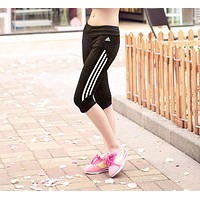 Adidas Woman Casual Gym Sport Yoga Embroidery Pants Trousers Sweatpants