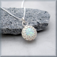 Opal Necklace October Birthstone Gemstone Jewelry (SN763)
