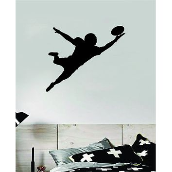 Football Player V6 Wall Decal Sticker Vinyl Art Bedroom Room Home Decor Quote Ball Kids Teen Baby Boy Girl Nursery School Fitness Sports NFL
