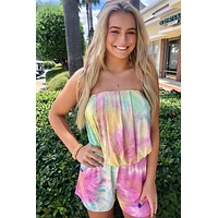 By The Sea Romper- Tie Dye