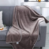 Grey Solid Velvet Blanket 1PC
