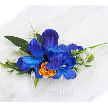 Floral Hair Comb-Galaxy Orchids