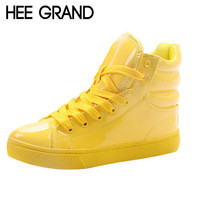 HEE GRAND New Arrival Lighted Candy Color High-top Shoes Men Women's Fashion Shoes Flat Platform Shoes Couple Shoes XWB001