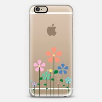 Pastel Spring Flowers Transparent iPhone 6 case by Organic Saturation | Casetify