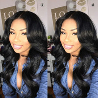 7a lace front wig unprocessed virgin hair brazilian body wave full lace human ha