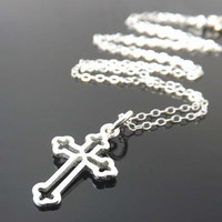 CROSS necklace - Sterling Silver necklace