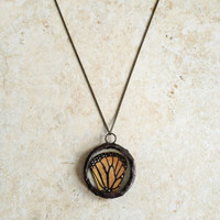 Monarch Butterfly Wing Necklace