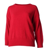 Charter Club Womens Plus Knit Ribbed Trim Pullover Sweater