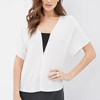 Contrast-Paneled Blouse