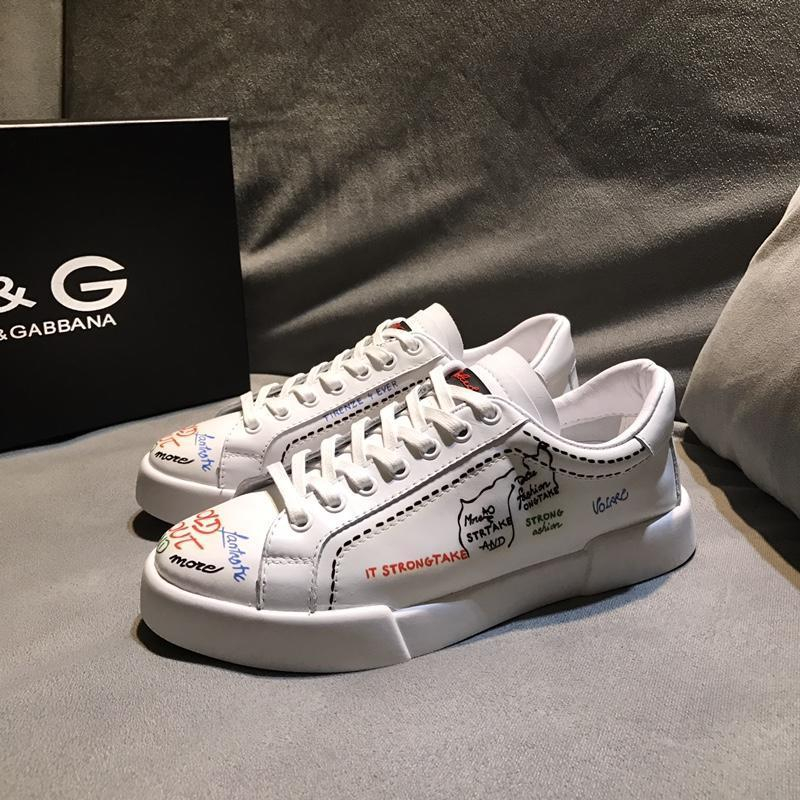 Image of D&G Dolce & Gabbana Men's Leather Fashion Sneakers Shoes