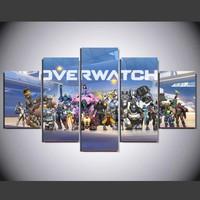 Overwatch Game Characters Poster Wall Art