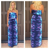 Mystic Strapless Maxi Dress