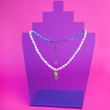 Pearl Sunflower Necklace