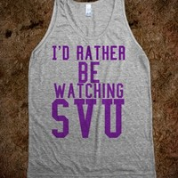 I'd rather be watching SVU purple