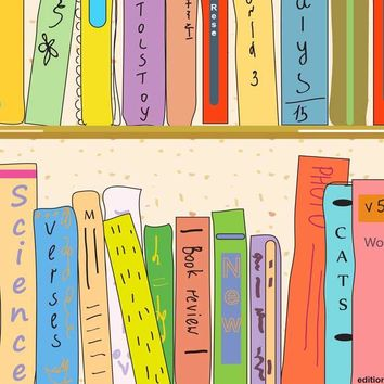 Colorful Books School Printed Backdrop - 4211