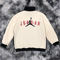 Jordan New fashion embroidery people letter contrast color long sleeve top sweater