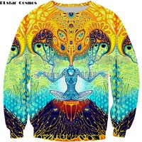 Newest Fashion sweatshirt Hoodies Psychedelic Artwork Rainbow 3D Print Trippy pullover Hoodies Men women Plus Size