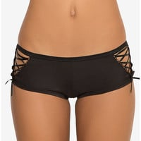 Microfiber Side Lace-Up Cheeky Panty