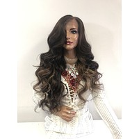 """Custom Red SWISS Lace Front Wig 