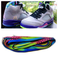 "Jordan Retro 5 ""Fresh Prince Bel Air"" Shoe Laces : Custom Sneaker Laces"
