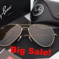 Ray Ban Aviator Sunglass Gold Brown Mirrored RB 3025