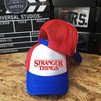 Stranger Things Hats Trucker Hat, Trucker Cap Unisex snapback, Baseball hat caps, Dustin Hat Dustin's Hat, TV show Stranger Things