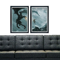 "Skyrim dragon poster set 11""x17"""