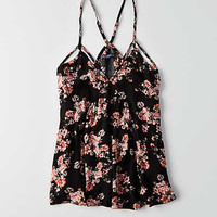 AEO Floral Racerback Cami , Pink